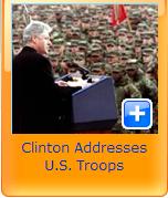 clinton U.S troops