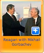 reagan with mikhal