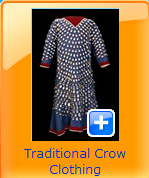 traditional crow cloth